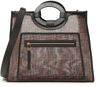 Fendi MEDIUM RUNAWAY TOTE BAG OS Brown, Black Leather