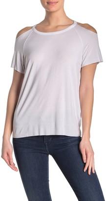 Love Stitch Cold Shoulder Solid T-Shirt