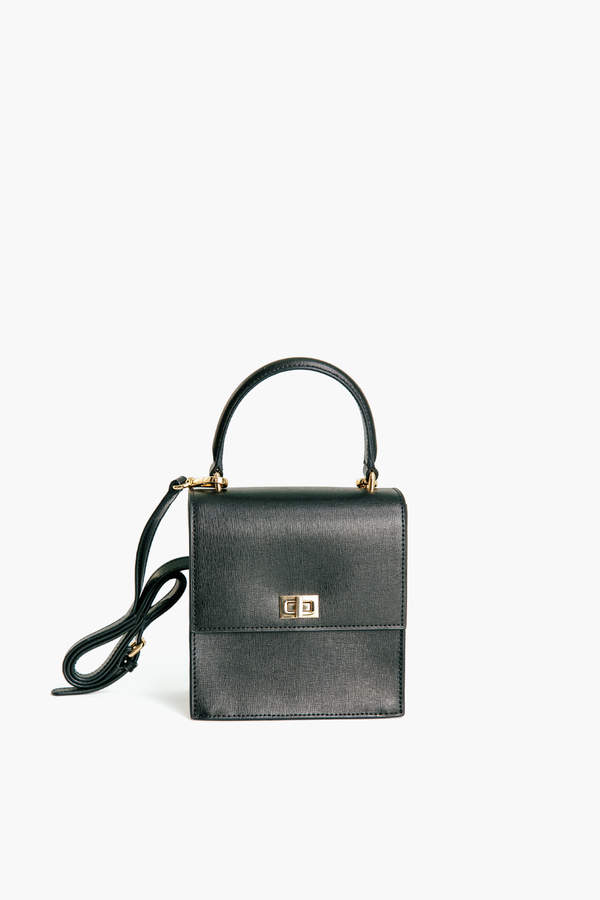 Neely & Chloe Black Leather Mini Lady Bag