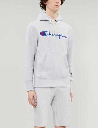 Champion Logo-print cotton-jersey hoody