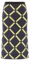 Versace Wool and angora-blend skirt