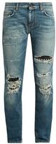 Saint Laurent Stud-embellishment distressed skinny jeans