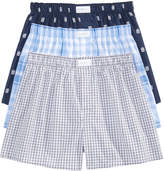 Tommy Hilfiger Men's 3-Pk. Cotton Classic Printed Woven Boxers