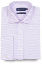 Osborne Big And Tall Lilac Puppytooth Tailored Shirt