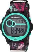 Skechers Women's Quartz Plastic and Nylon Casual WatchMulti Color (Model: SR6106)