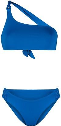 Tara Matthews Braided-Detail One-Shoulder Bikini Set