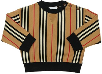 Burberry Icon Striped Cotton Sweatshirt