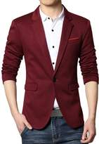 Partiss Men's Slim Fit One Button Business Blazers,M