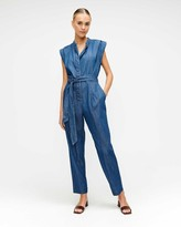 7 For All Mankind 7fam7 Cuffed Sleeve Jumpsuit in Pacific Street