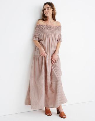 Madewell Karen Walker Orestes Ruched Maxi Dress