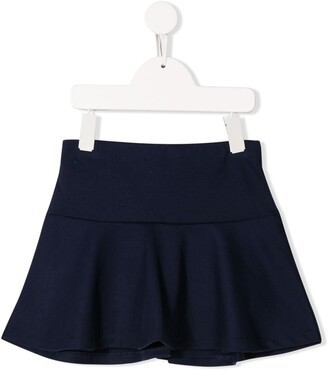 Ralph Lauren Kids Embroidered Logo Flared Skirt