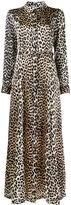 Ganni Leopard Print belted maxi dress