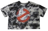 Junior's Ghostbuster's Cropped Graphic Tee Gray