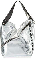 Proenza Schouler Medium Soft Metallic Hobo Bag, Silver