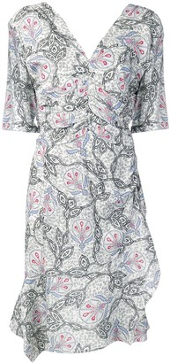 Isabel Marant printed gathered dress