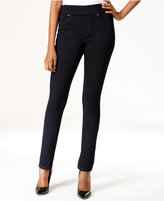 Style&Co. Style & Co. Pull-On Slim Straight-Leg Jeans, Rinse Wash, Only at Macy's