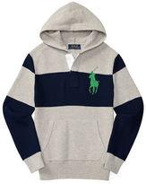 Ralph Lauren Boys 8-20 Zippered Cotton Hooded Pullover