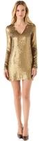 Haute Hippie V Neck Sequined Dress