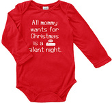 Urban Smalls Red 'All Mommy Wants For Christmas' Bodysuit - Infant