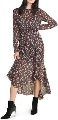 Veronica Beard Sazan Floral Print Silk Midi Dress