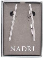 Nadri Large Thin Pave Crystal Hoop Earrings