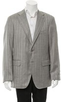 Canali Herringbone Two-Button Blazer w/ Tags