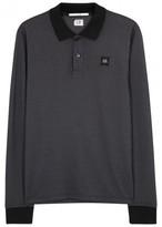 C.p. Company Charcoal Cotton Blend Polo Shirt