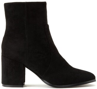 Vero Moda Rea Faux Suede Ankle Boots with Block Heel