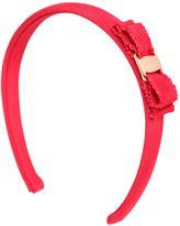 Salvatore Ferragamo Cotton Grosgrain Headband W/ Bow