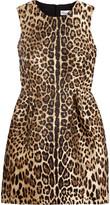 RED Valentino Leopard Lamé-jacquard Mini Dress - Leopard print