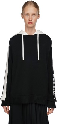 Moncler Hooded Cotton Knit Sweater