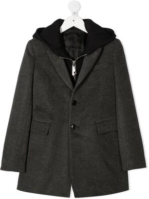 Philipp Plein Junior Hoodie Blazer Hybrid Coat