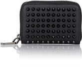 Christian Louboutin Men's Panettone Zip-Around Coin Purse-BLACK