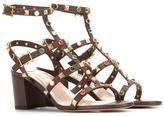Valentino Garavani Rockstud Rolling Leather Sandals