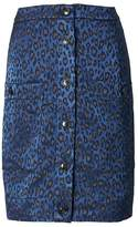 Banana Republic Leopard-Print Button-Front Skirt