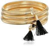Vince Camuto Tassel Coil Gold/Black Bracelet