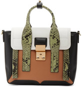 3.1 Phillip Lim Green Python Mini Pashli Satchel