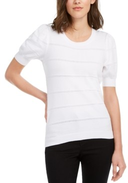 Maison Jules Puff-Sleeve Sweater, Created for Macy's