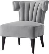 Nicole Miller Satang Velvet Accent Chair/Slipper Chair