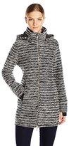 Calvin Klein Women's Textured Knit Walker Coat