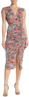 Veronica Beard Teagan Silk Blend Floral Midi Dress