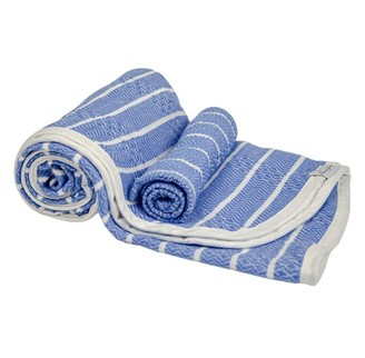 House Of Jude Hooded Turkish Towel and Wash Cloth Bundle Blue Moon