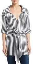 Alice + Olivia Tate Stripe Casual Button-Down Shirt