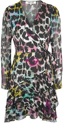 Diane von Furstenberg Keyla printed jacquard wrap dress