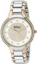 Badgley Mischka Women's BA/1375SVTT Swarovski Crystal Accented Two-Tone Bracelet Watch