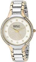 Badgley Mischka Women's BA/1375SVTT Swarovski Crystal Accented Two-Tone Bracelet Watch