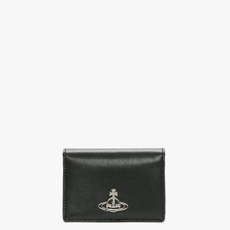 Vivienne Westwood Small Anna Black Leather Card Holder