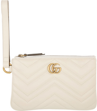 Gucci White GG Marmont Wallet