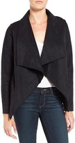 Velvet by Graham & Spencer Women's 'Lux' Reversible Faux Shearling Drape Front Jacket