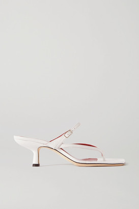 BY FAR Desiree Leather Sandals - White